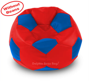 DOLPHIN XXXL FOOTBALL BEAN BAG-BLUE/RED-COVER (Without Beans)