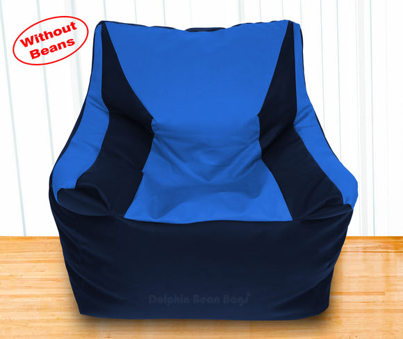 DOLPHIN XXXL Beany Chair N.Blue/R.Blue-Cover (Without Beans)