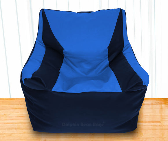 DOLPHIN XXXL Beany Chair N.Blue/R.Blue-Filled (With Beans)