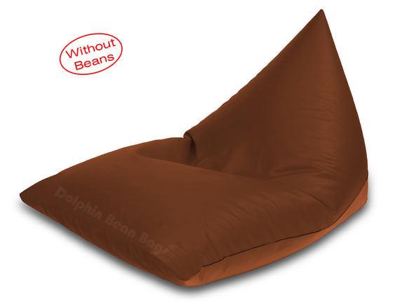 Dolphin Jumbo Pyramid Bean Bags-TAN-Cover (without Beans)
