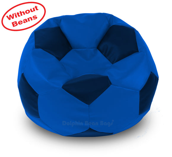 DOLPHIN XXXL FOOTBALL BEAN BAG-N.BLUE/BLUE-COVER (Without Beans)