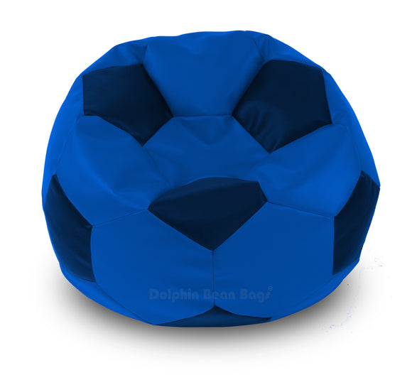 DOLPHIN XXXL FOOTBALL BEAN BAG-N.BLUE/BLUE-Filled (With Beans)