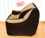 DOLPHIN XXXL Beany Chair Brown/Beige-Cover (Without Beans)