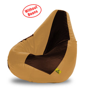 DOLPHIN XXXL BROWN&FAWN BEAN BAG-COVERS(Without Beans)