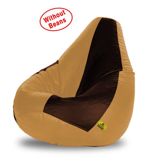 DOLPHIN XXXL BROWN&BEIGE BEAN BAG-COVERS(Without Beans)