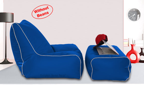 Dolphin Gamer Bean Bag with Footrest R.Blue-Covers (Without Beans)
