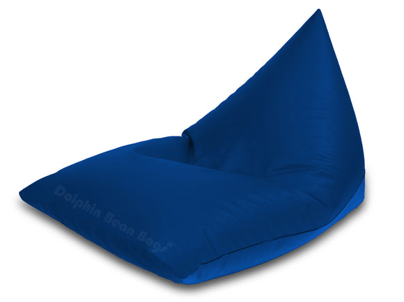 Dolphin Jumbo Pyramid Bean Bags-R.BLUE-Cover (without Beans)