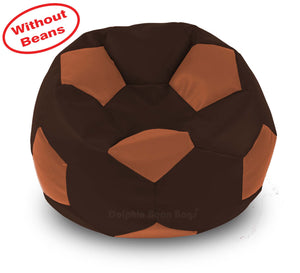 DOLPHIN XXXL FOOTBALL BEAN BAG-BROWN/TAN-COVER (Without Beans)