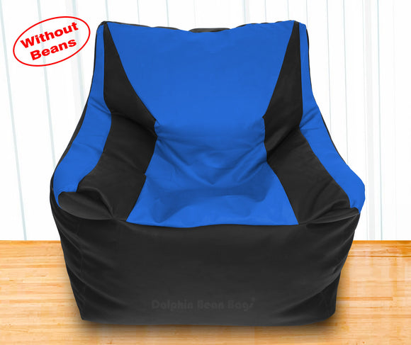 DOLPHIN XXXL Beany Chair Black/R.Blue-Cover (Without Beans)