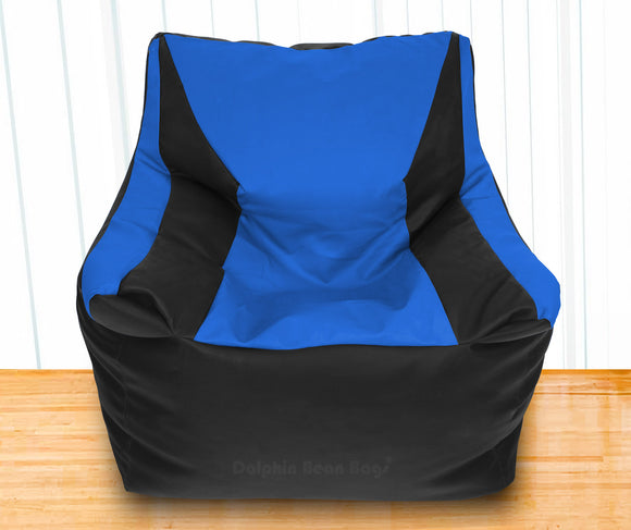 DOLPHIN XXXL Beany Chair Black/R.Blue-Filled (With Beans)