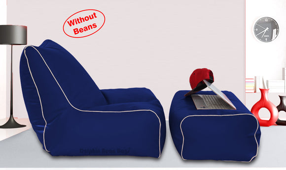 Dolphin Gamer Bean Bag with Footrest N.Blue-Covers (Without Beans)