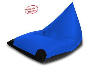 Dolphin Jumbo Pyramid Bean Bags-R.Blue/Black-Cover (without Beans)