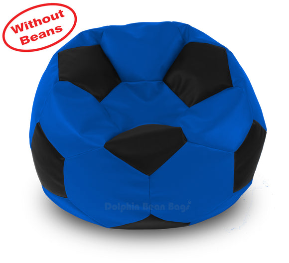 DOLPHIN XXXL FOOTBALL BEAN BAG-BLACK/BLUE-COVER (Without Beans)