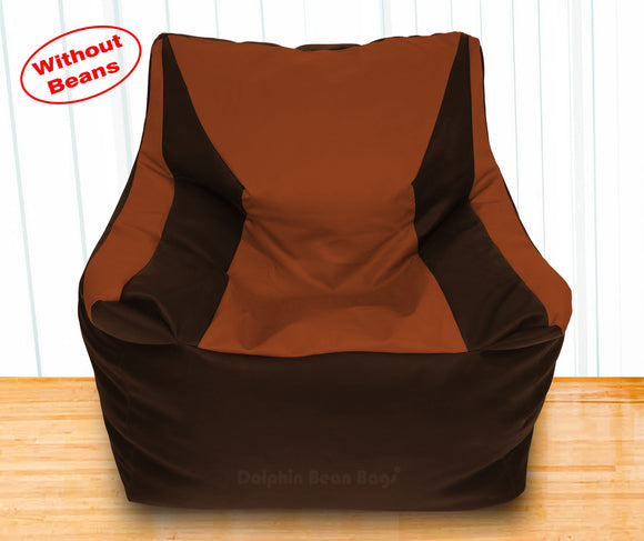 DOLPHIN XXXL Beany Chair Brown/Tan-Cover (Without Beans)