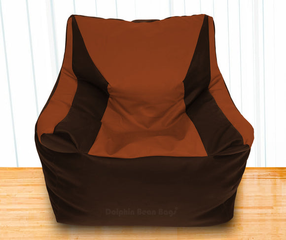 DOLPHIN XXXL Beany Chair Brown/Tan-Filled (With Beans)