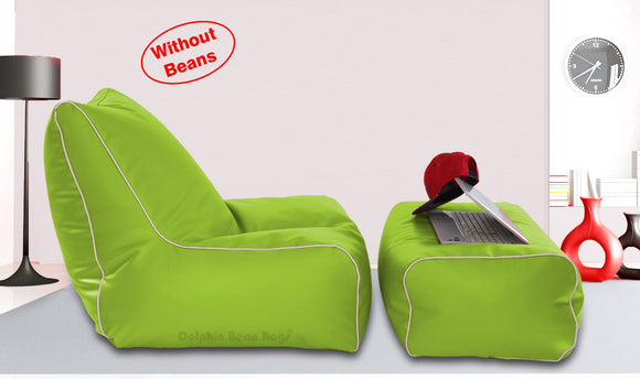 Dolphin Gamer Bean Bag with Footrest F.Green-Covers (Without Beans)