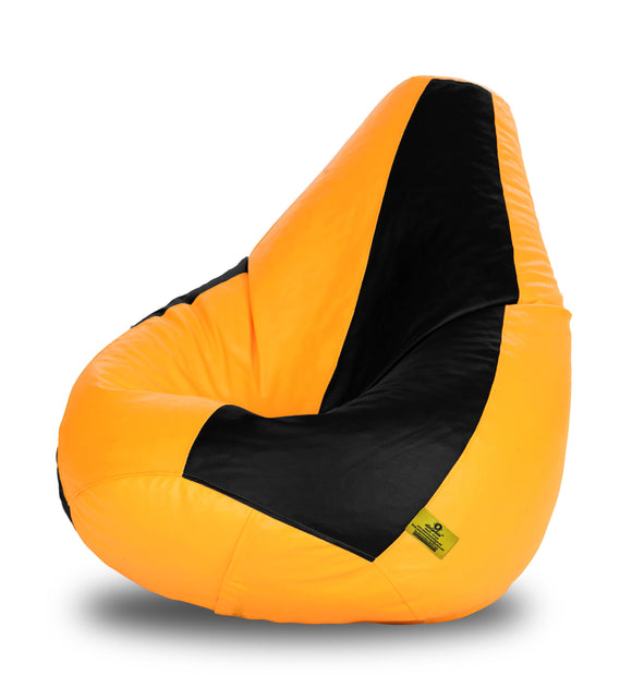 DOLPHIN XXXL BLACK & YELLOW BEAN BAG-FILLED(With Beans)