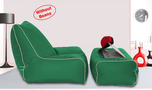 Dolphin Gamer Bean Bag with Footrest B.Green-Covers (Without Beans)