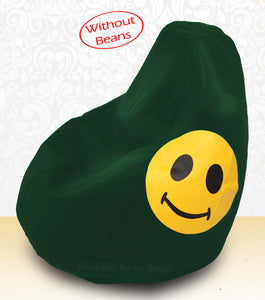 DOLPHIN XXXL Bean Bag B.Green-Smiley-COVERS(without Beans)