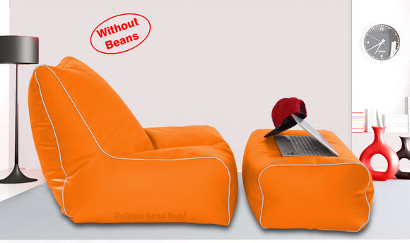Dolphin Gamer Bean Bag with Footrest Orange-Covers (Without Beans)