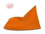 Dolphin Jumbo Pyramid Bean Bags-ORANGE-Cover (without Beans)