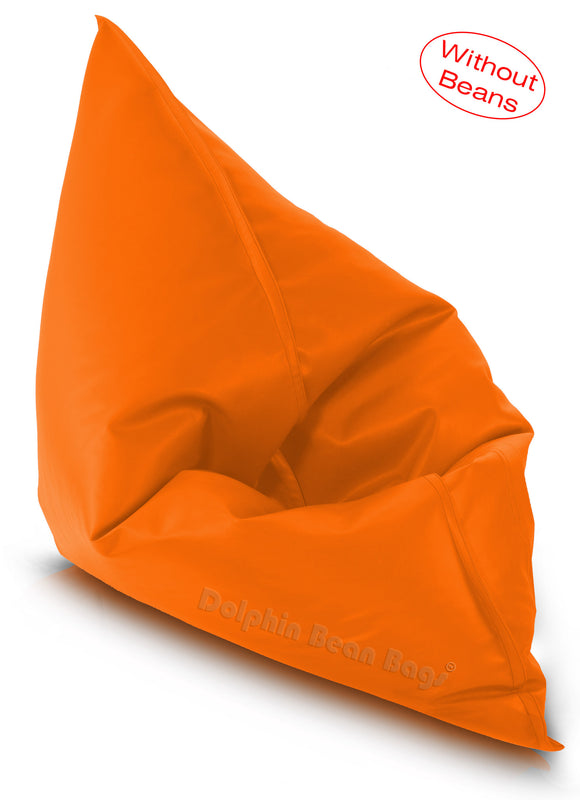 Dolphin Jumbo Sack Bean Bags-ORANGE-Cover (without Beans)