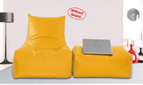 Dolphin Gamer Bean Bag with Footrest Yellow-Covers (Without Beans)