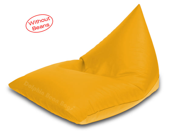 Dolphin Jumbo Pyramid Bean Bags-Yellow-Cover (without Beans)