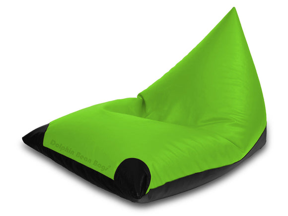 Dolphin Jumbo Pyramid Black/F.Green-Filled (With Beans)