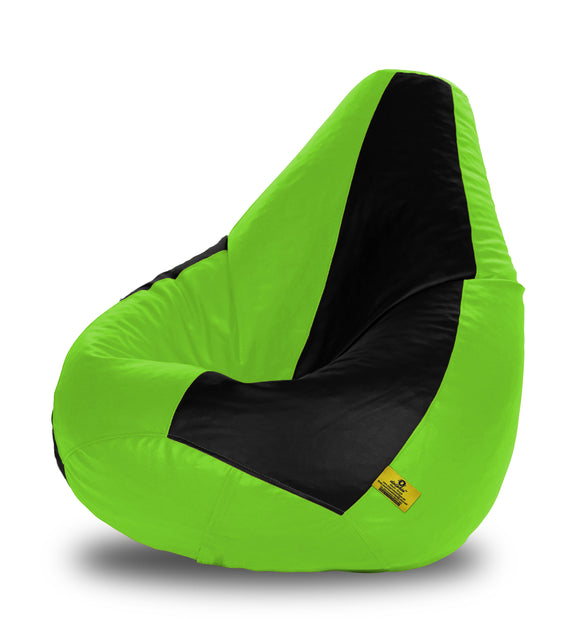 DOLPHIN XXXL BLACK&F.GREEN BEAN BAG-FILLED(With Beans)