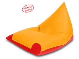 Dolphin Jumbo Pyramid Bean Bags-Red/Yellow-Cover (without Beans)
