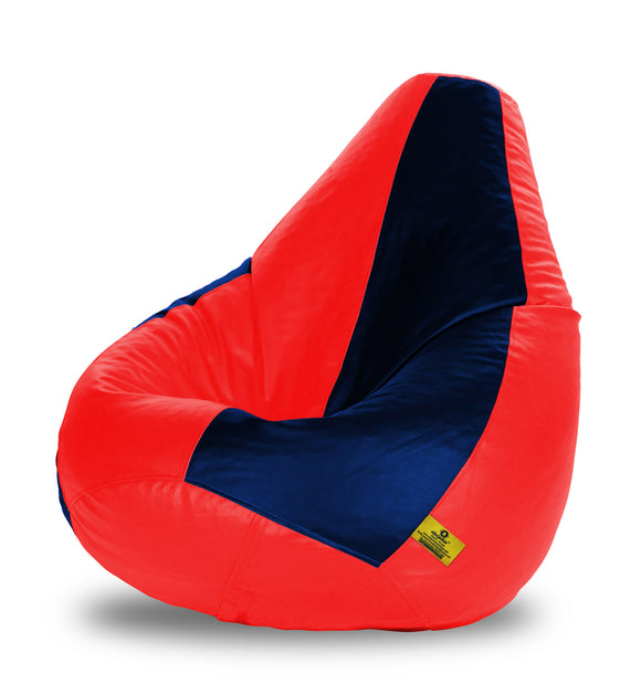 DOLPHIN XXXL RED & NAVY BLUE BEAN BAG-FILLED(With Beans)