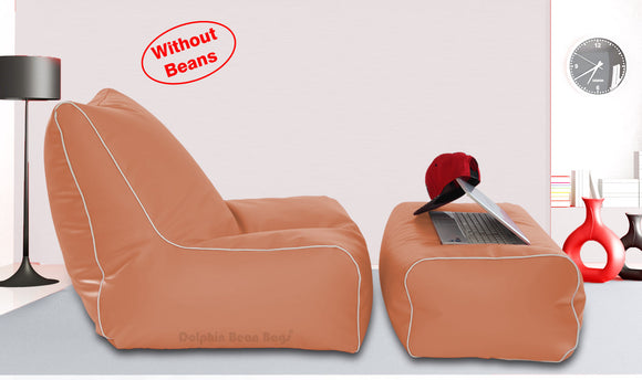 Dolphin Gamer Bean Bag with Footrest Fawn-Covers (Without Beans)