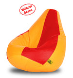 DOLPHIN XXXL RED&YELLOW BEAN BAG-COVERS(Without Beans)