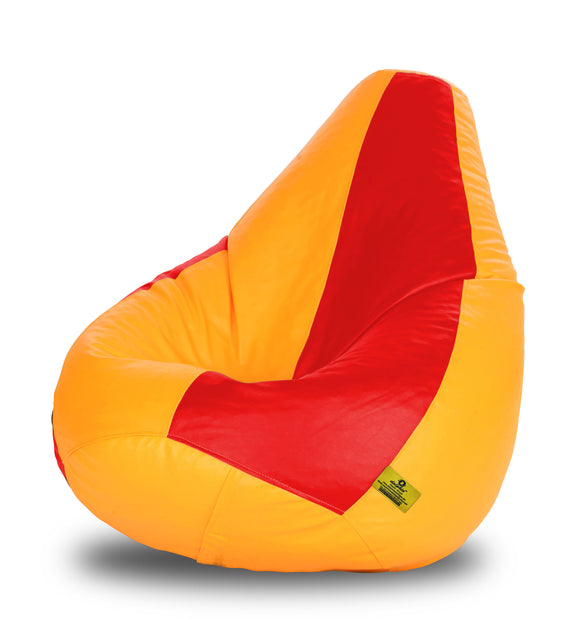 DOLPHIN XXXL RED & YELLOW BEAN BAG-FILLED(With Beans)