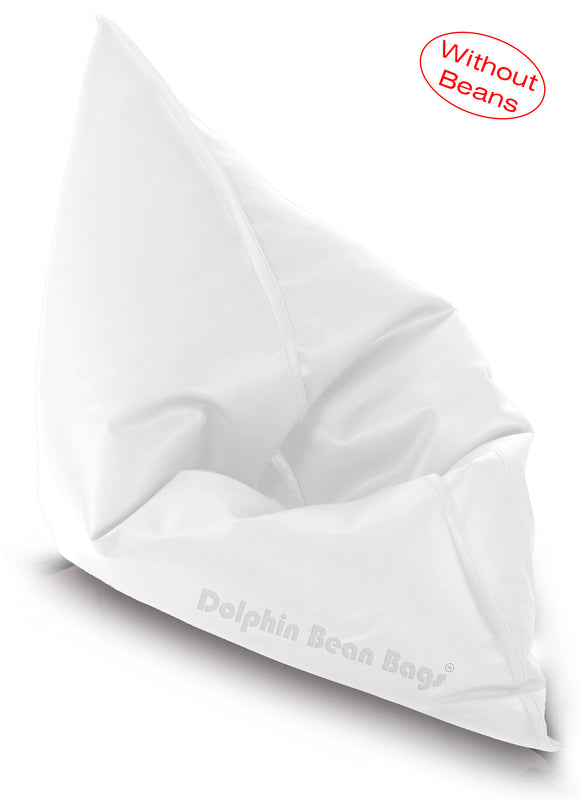 Dolphin Jumbo Sack Bean Bags-WHITE-Cover (without Beans)