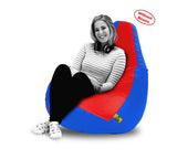 DOLPHIN XXXL RED&R.BLUE BEAN BAG-COVERS(Without Beans)