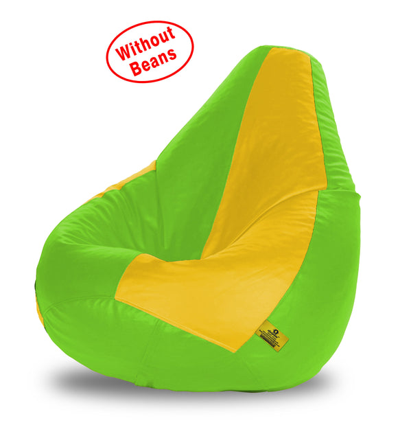DOLPHIN XXXL F.GREEN&YELLOW BEAN BAG-COVERS(Without Beans)