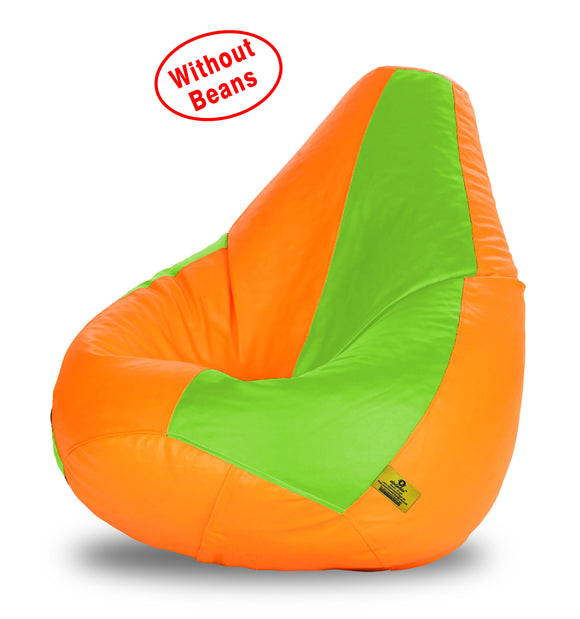DOLPHIN XXXL F.GREEN&ORANGE BEAN BAG-COVERS(Without Beans)