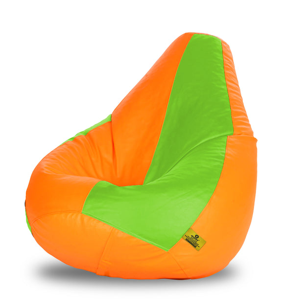 DOLPHIN XXXL F.GREEN & ORANGE BEAN BAG-FILLED(With Beans)