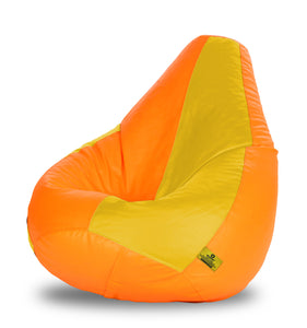 DOLPHIN XXXL ORANGE & YELLOW BEAN BAG-FILLED(With Beans)