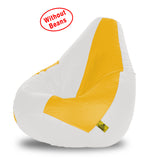 DOLPHIN XXXL WHITE&YELLOW BEAN BAG-COVERS(Without Beans)