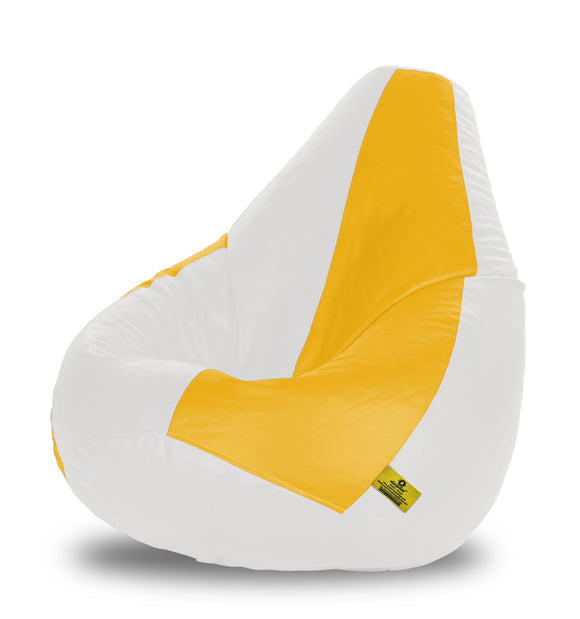 DOLPHIN XXXL WHITE & YELLOW BEAN BAG-FILLED(With Beans)