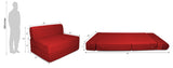 Dolphin Zeal 1 Seater Sofa Bed- Maroon - 2.5ft x 6ft with Free micro fiber Designer cushions