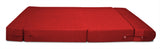 Dolphin Zeal 1 Seater Sofa Bed-Red- 3ft x 6ft with Free micro fiber Designer cushions