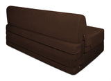 Dolphin Zeal 2 Seater Sofa Bed-Brown- 4ft x 6ft with Free micro fiber Designer cushions