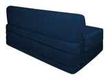 Dolphin Zeal 2 Seater Sofa Bed-Navy Blue- 4ft x 6ft with Free micro fiber Designer cushions