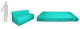 Dolphin Zeal 1 Seater Sofa Bed-Turquoise- 3ft x 6ft with Free micro fiber Designer cushions