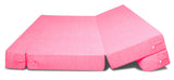 Dolphin Zeal 2 Seater Sofa Bed-Pink- 4ft x 6ft with Free micro fiber Designer cushions
