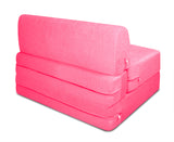 Dolphin Zeal 1 Seater Sofa Bed-Pink- 2.5ft x 6ft with Free micro fiber Designer cushions